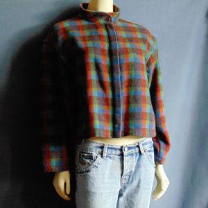 Vintage Giorgio Armani Plaid Wool Jacket 10